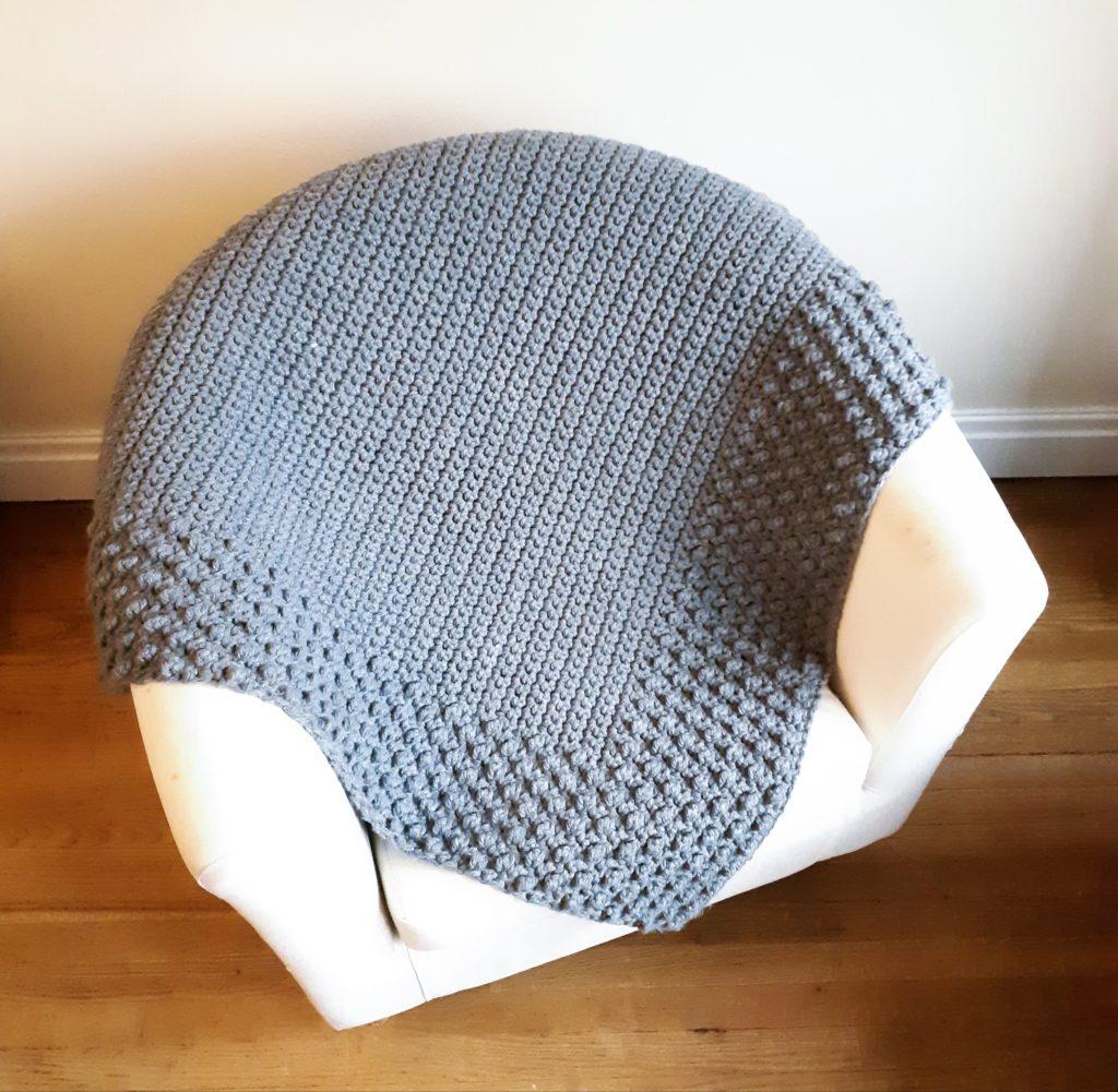 manta de crochet gruesa