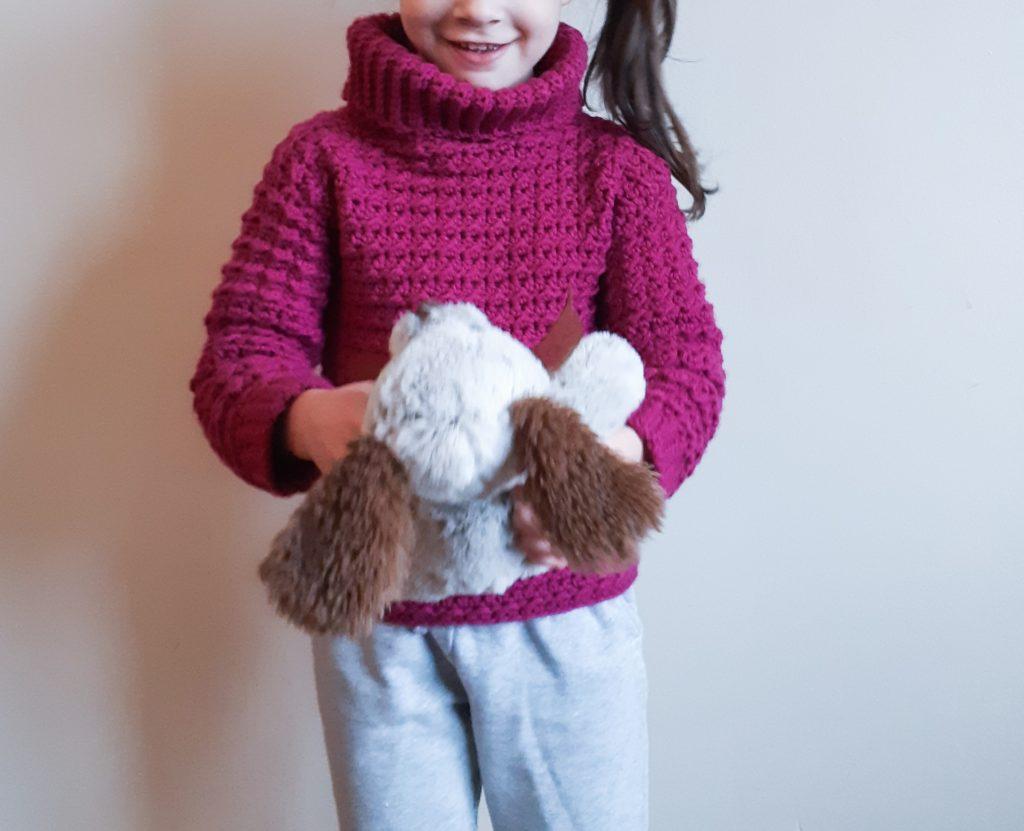 suéter de crochet para niños