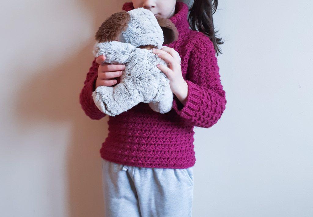 adorable patrón de suéter para niños
