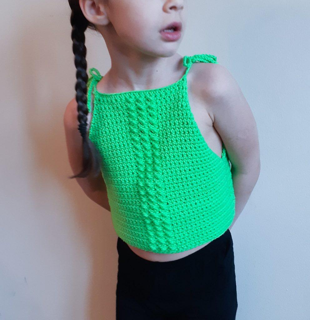 top de crochet para niños