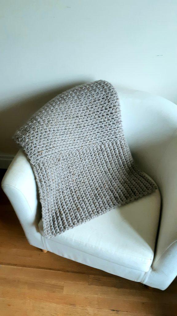 couverture au crochet épaisse