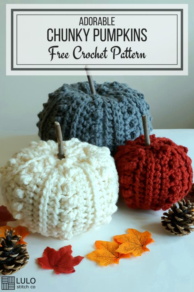 broche pinterest motif citrouille au crochet gratuit